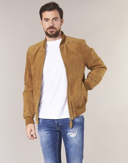 material Men Leather jackets / Imitation le Schott LC301 Cognac