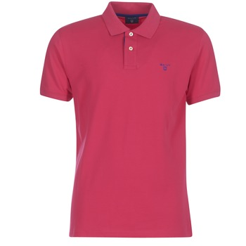 material Men short-sleeved polo shirts Gant CONTRAST COLLAR PIQUE RUGGER Red