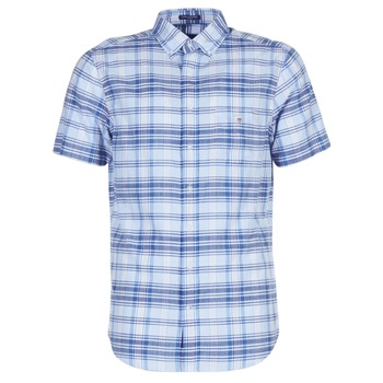 material Men short-sleeved shirts Gant BLUE PACK MADRAS REG Blue