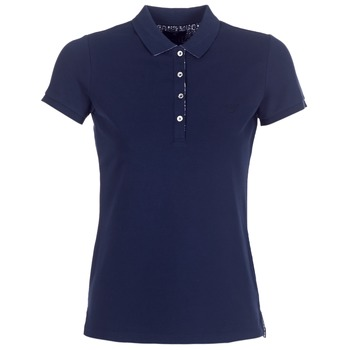 material Women short-sleeved polo shirts Gant FLOWER DETAILS PIQUE Marine