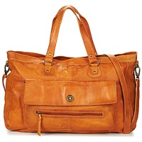Bags Women Shoulder bags Pieces TOTALLY ROYAL LEATHER TRAVEL BAG COGNAC