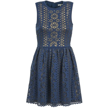 material Women Short Dresses Manoush NEOPRENE Blue / Gold