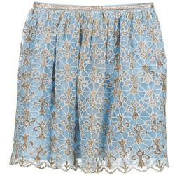 material Women Skirts Manoush ARABESQUE Blue / Gold