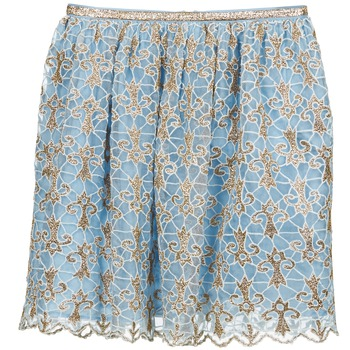 material Women Skirts Manoush ARABESQUE Blue / Gold
