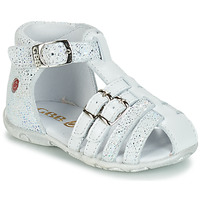 Shoes Girl Sandals GBB SAMIRA Vte / White / Dpf