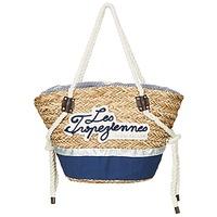 Bags Women Shopper bags Les Tropéziennes par M Belarbi AUDENGE Beige / Marine
