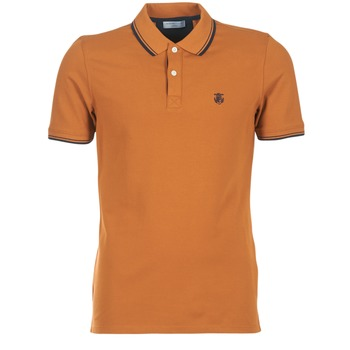 material Men short-sleeved polo shirts Selected SEASON Brown