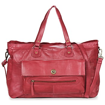 Bags Women Shoulder bags Pieces TOTALLY ROYAL LEATHER TRAVEL BAG Bordeaux