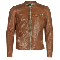 material Men Leather jackets / Imitation le Redskins CROSS Cognac