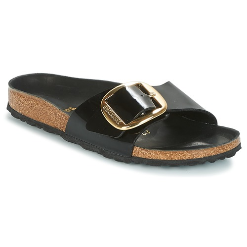 ae1db1559fd Birkenstock MADRID BIG BUCKLE Black - Free delivery with Spartoo NET ...