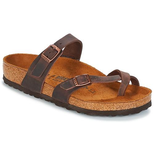 Shoes Women Mules Birkenstock MAYARI Brown