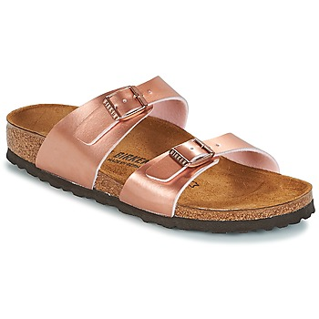Shoes Women Mules Birkenstock SYDNEY Pink / Gold