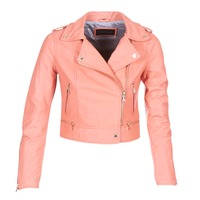 material Women Leather jackets / Imitation le Oakwood 62822 Coral