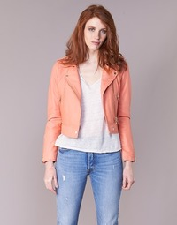 material Women Leather jackets / Imitation le Oakwood YOKO Coral