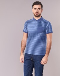 material Men short-sleeved polo shirts Casual Attitude INUTIOLE Blue / White