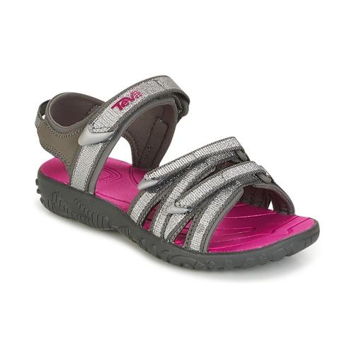 Shoes Girl Sandals Teva TIRRA Silver / Magenta