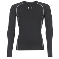 material Men Long sleeved shirts Under Armour LS COMPRESSION Black
