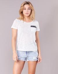 material Women short-sleeved t-shirts Yurban ITNOLA Ecru