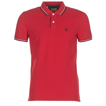 material Men short-sleeved polo shirts Selected SLHNEWSEASON Red