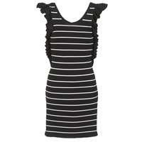 material Women Short Dresses Vero Moda VMABHY Black / White