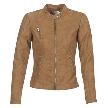 material Women Leather jackets / Imitation le Only STEADY Cognac