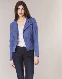 material Women Leather jackets / Imitation le Only STEADY Blue
