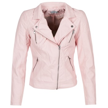 material Women Leather jackets / Imitation le Only STEADY Pink