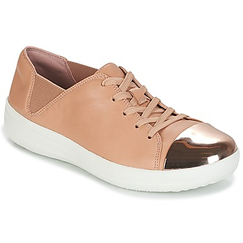 Shoes Women Low top trainers FitFlop F-SPORTY MIRROR-TOE SNEAKERS Nude