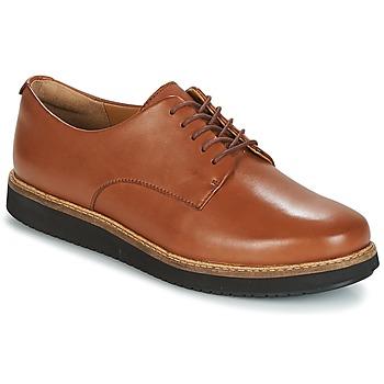 Shoes Women Derby shoes Clarks GLICK DARBY Dark / Tan / Lea