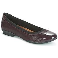 Shoes Women Ballerinas Clarks NEENAH GARDEN Aubergine