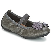Shoes Girl Ballerinas Geox J PIUMA BALLERINES Grey