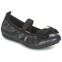 Shoes Girl Ballerinas Geox J PIUMA BALLERINES Black