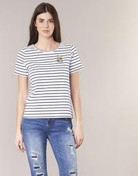 material Women short-sleeved t-shirts Betty London INNAMOU White / Marine