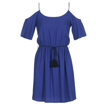 material Women Short Dresses Moony Mood IFATEM Blue