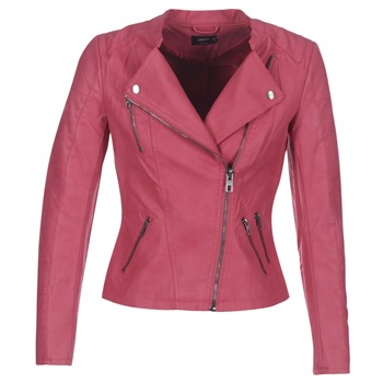 material Women Leather jackets / Imitation le Only AVA Pink