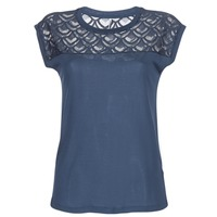 material Women short-sleeved t-shirts Only NICOLE Marine
