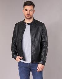 material Men Leather jackets / Imitation le Yurban IMIMID Black