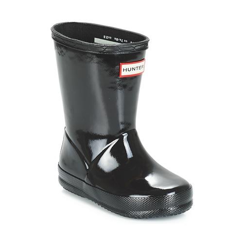 Shoes Girl Wellington boots Hunter KIDS FIRST CLASSIC GLOSS Black