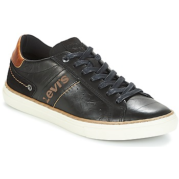 Shoes Men Low top trainers Levi's BAKER Black