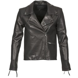 material Women Leather jackets / Imitation le American Retro LEON JCKT Black