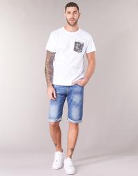 material Men Shorts / Bermudas Yurban IXOLAK Blue / Clear
