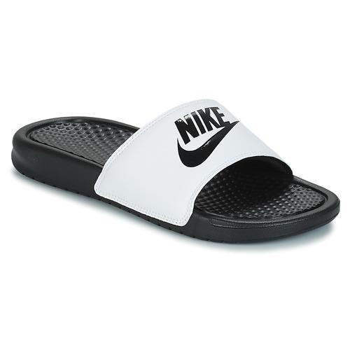 Shoes Men Sliders Nike BENASSI JUST DO IT White / Black