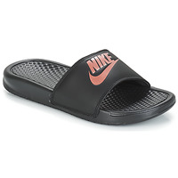 Shoes Women Tap-dancing Nike BENASSI JUST DO IT W Black / Gold
