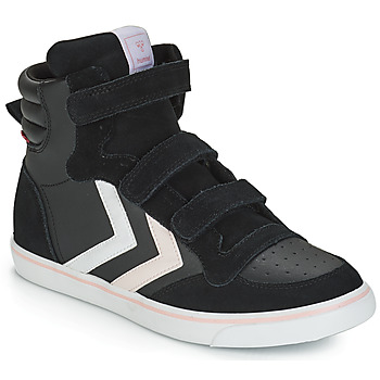 Shoes Girl High top trainers Hummel STADIL LEATHER JR Black
