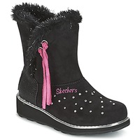 Shoes Girl Snow boots Skechers SPARKLES Black / Pink