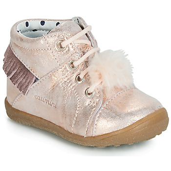 Shoes Girl High top trainers Catimini PEPITA Pink
