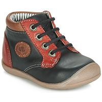 Shoes Boy High top trainers Catimini RAYMOND Black-red / Dpf / Kimbo