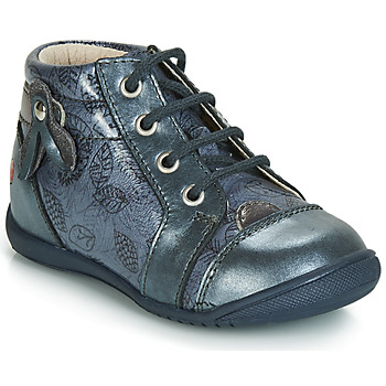 Shoes Girl High top trainers GBB NICOLE Vtv / Blue / Grey-impr / Dpf / Kezia