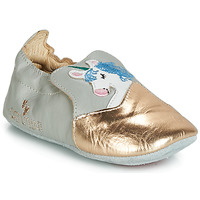 Shoes Girl Ballerinas Catimini LICORNETTE Vte / Grey / Dpf / Flexible