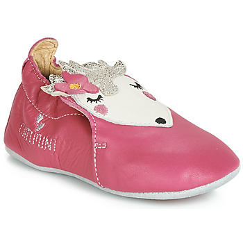 Shoes Girl Baby slippers Catimini HERISSETTE Vte / Pink / Dpf / Flexible